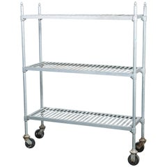 Vintage Zinc Industrial Bakery Cart