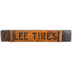 Early 20th Century Lee Tires Puncture Proof Trade Sign