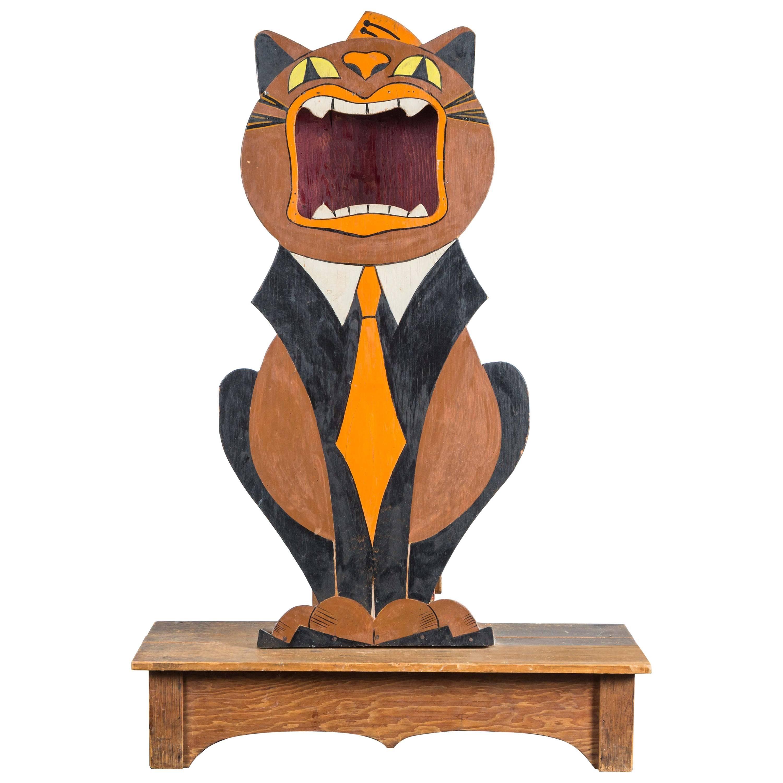 "1938 Folk Art Bandstand Tip ""Kitty"" Found in Spokane"