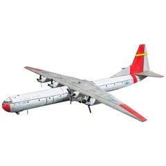 Mid-Century American Large Scale Wood Carved C-133A Plane