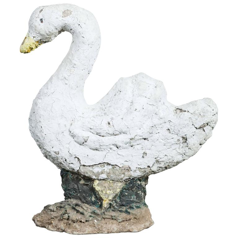 Swan Garden Statue Found in Upstate New York For Sale