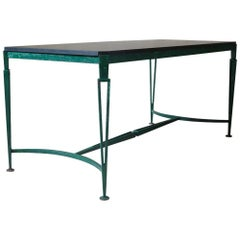 French 1940s Art Deco Iron and Granite Table