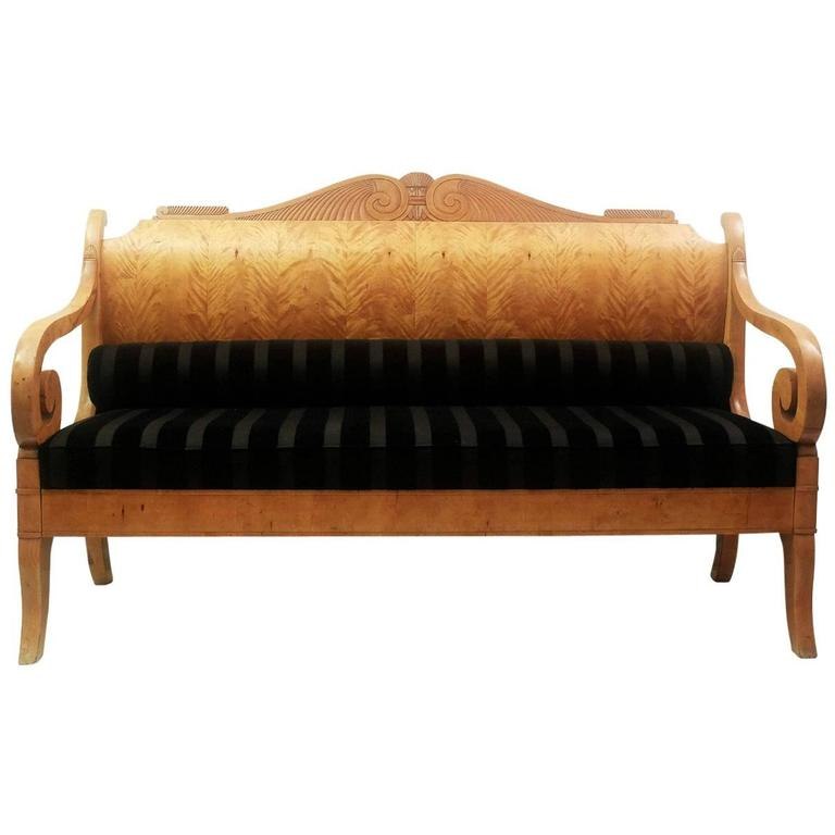 Early 19th century russian biedermeier sofa in birchwood for sale at 1stdibs Sofa biedermeier