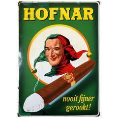 Enamel Sign Hofnar Cigars