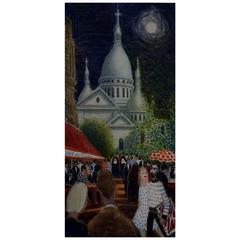 Anni Løgstrup Danish Artist, View of Montmartre, Paris