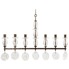 Erik Hoglund Six-Arm Chandelier for Boda, Late 20th Century