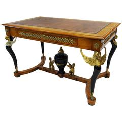 19th Century French Empire Writing/Centre Table