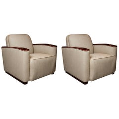 Club Chairs in the Manner of Paul Frankl