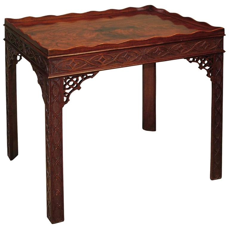 Chippendal period mahogany silver table For Sale