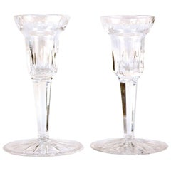 Pair of Clear Waterford Crystal Candlesticks