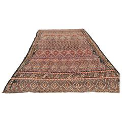 Moroccan Tuareg Vintage Tribal Runner Rug