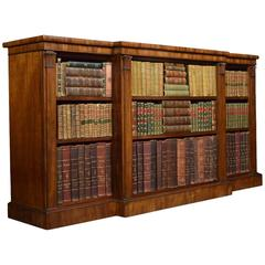 William IV Mahogany Breakfront Open Bookcase