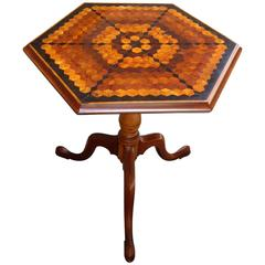 Late 18th Century English Neoclassical Hexagonal Specimen Tilt-Top Table