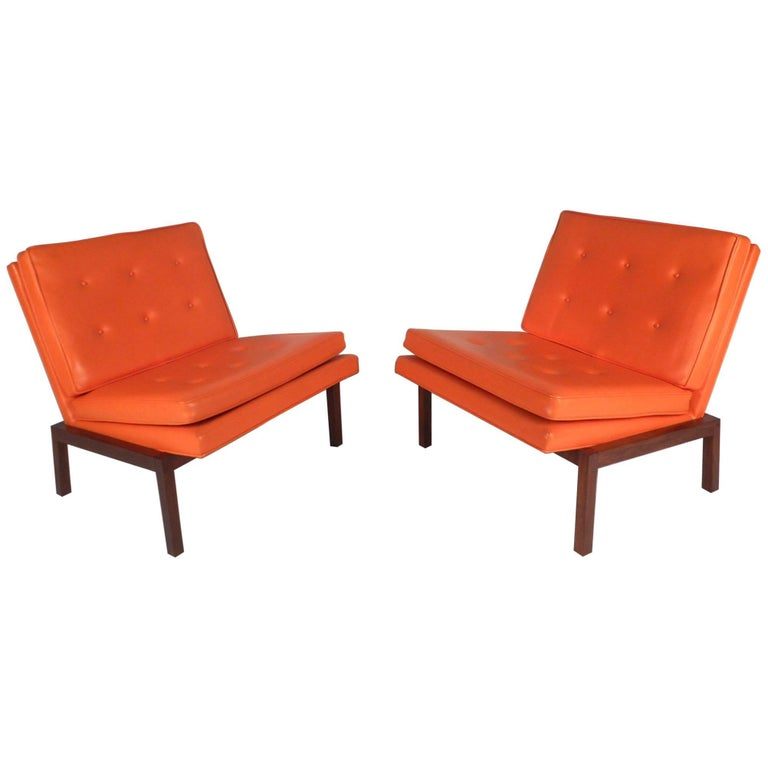 Pleasing Mid Century Modern Slipper Lounge Chairs By Milo Baughman For Thayer Coggin Theyellowbook Wood Chair Design Ideas Theyellowbookinfo