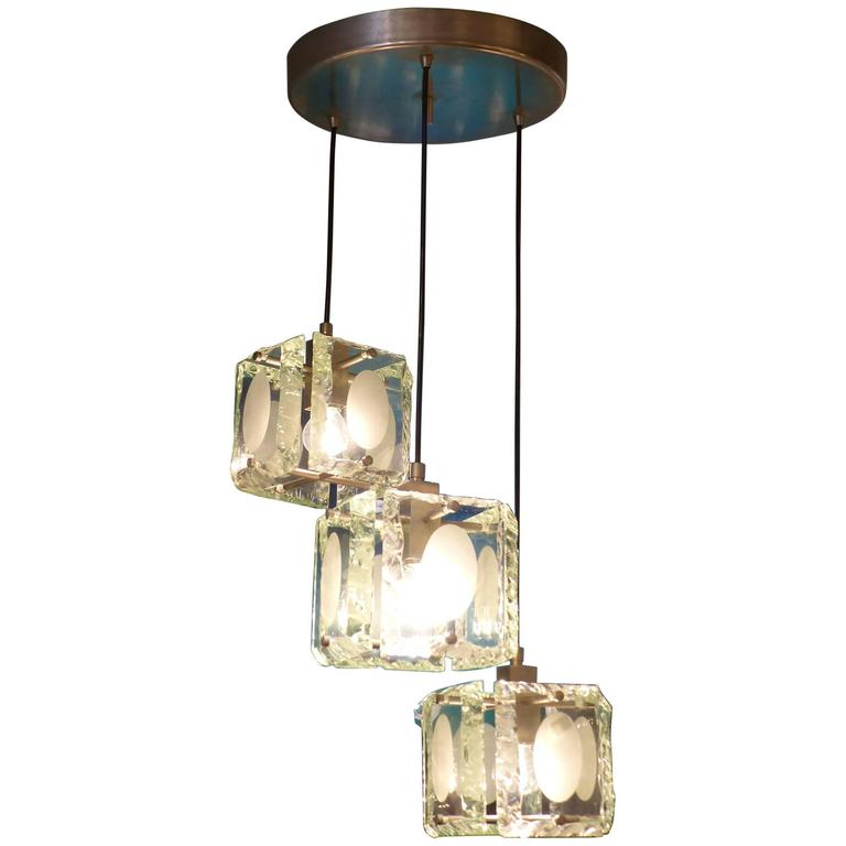 Fantastic Max Ingrand Glass Chandelier Circa 1970 For Sale At 1stdibs