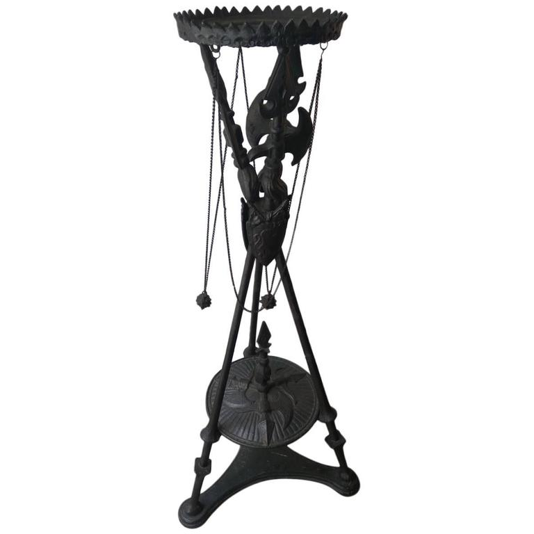 Cast Iron Tripod Pedestal For Sale