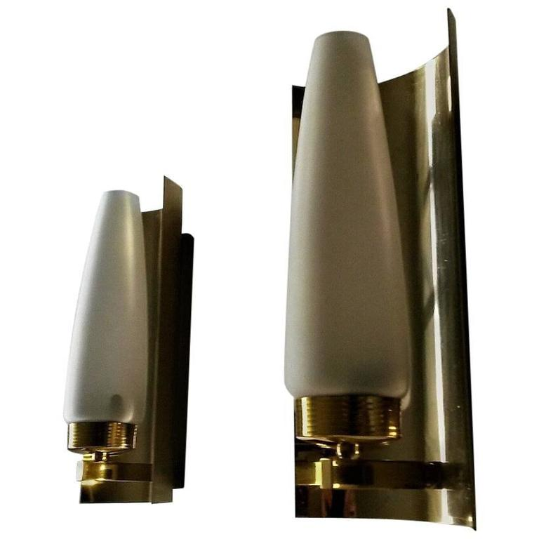 Elegant Pair of Mid-Century Modern French Sconces by Maison Arlus
