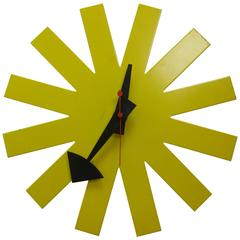 George Nelson Original Yellow Asterisk Clock by Howard Miller