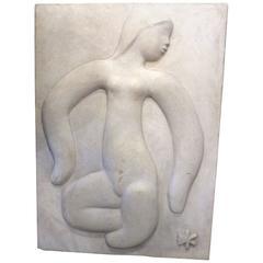 Huge Georges Pelletier Plaster Sculpture, circa 1960