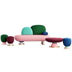 Toadstool Collection Ensemble Sofa, Table and Puffs - Masquespacio