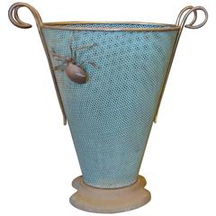 Beautiful Italian Brass Umbrella Stand, circa 1960
