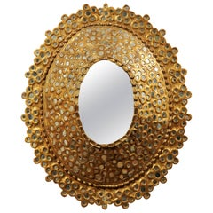 Oval Giltwood Convex Mirror