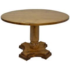 Vintage Pine Pedestal Kitchen Table