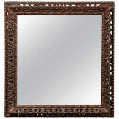 Early 20th Century Black Forest Mirror, circa 1900