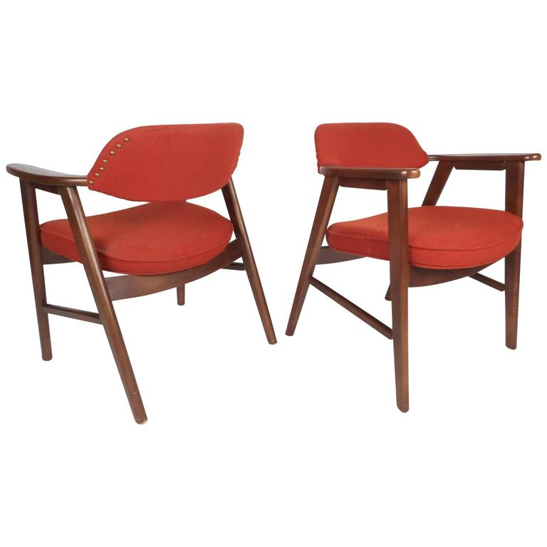 Pair of Scandinavian Modern Arm Chairs For Sale