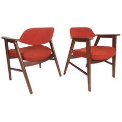 Pair of Scandinavian Modern Arm Chairs