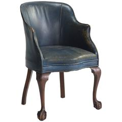Leather and Mahogany Desk Chair, circa 1900