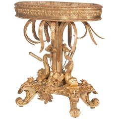 Italian Belle Epoque Gilt Wood Jardiniere with Liner