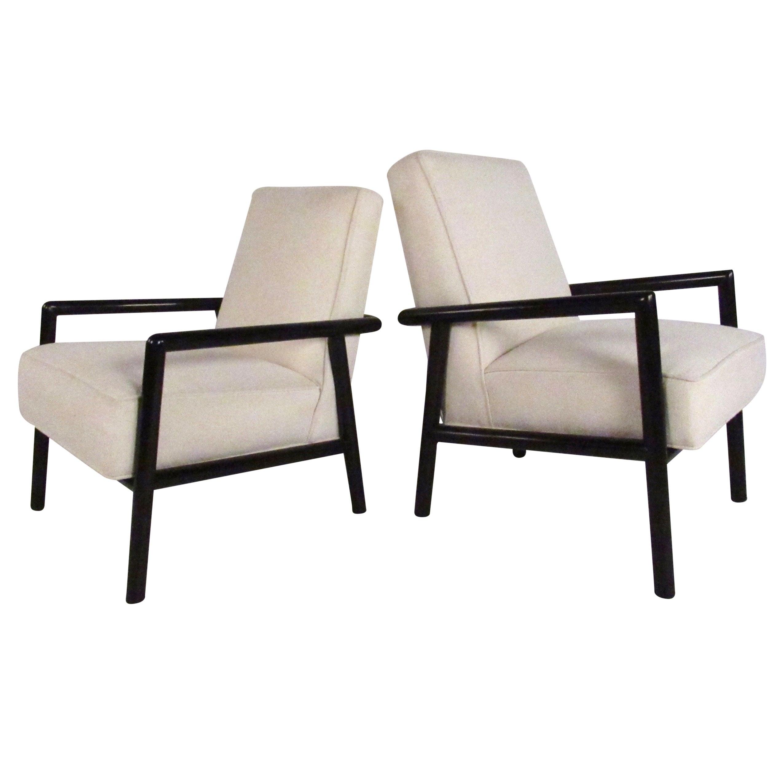 Pair of Vintage T.H. Robsjohn-Gibbings Lounge Chairs