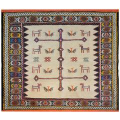 Whimsical 20th Century Sofreh Afshar Rug