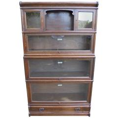 Antique Oak Globewernicke Stacking Library Bookcase