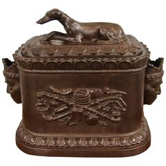 Rare Regency Opium Humidor with Whippet Finial by Robinson and Wood