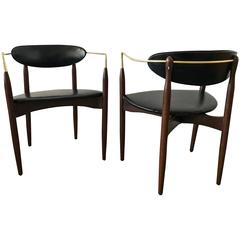 Pair of Dan Johnson Viscount Chairs