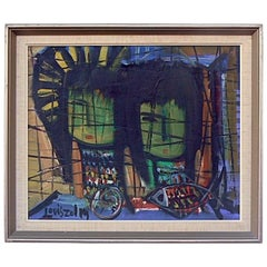 Mid-Century Modern Painting, by Artist Louis Zelig