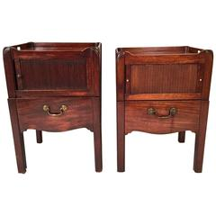 Matched Pair of Georgian Mahogany Bedside Commodes