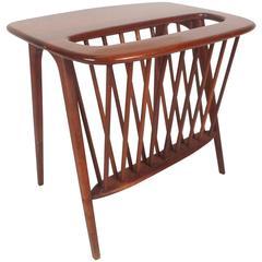 Mid-Century Modern Magazine Rack or Side Table by Arthur Umanoff
