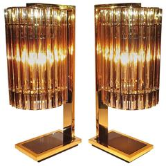 Very Rare Exclusive Gucci Table Lamps by Romani Saccani