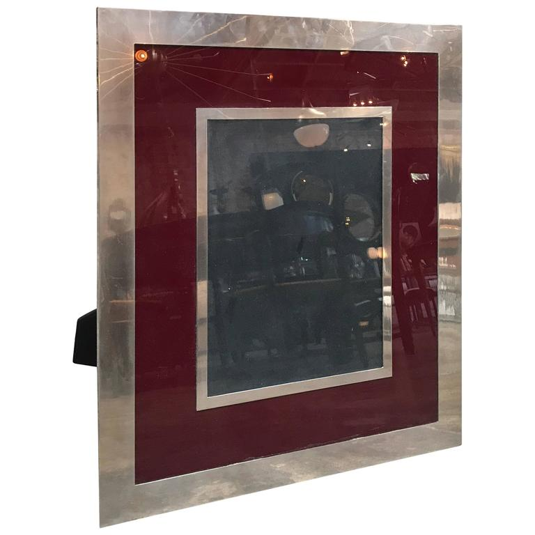 Giant Italian Vintage Modern Picture Frame, Italy, 1970s For Sale