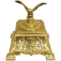Napoleon III Bronze Eagle Motif Inkwell