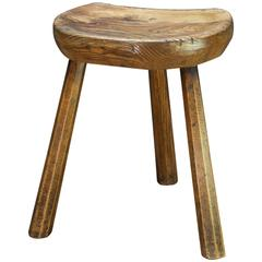 1880s Rustic Carved German Brewers Cellar Stool