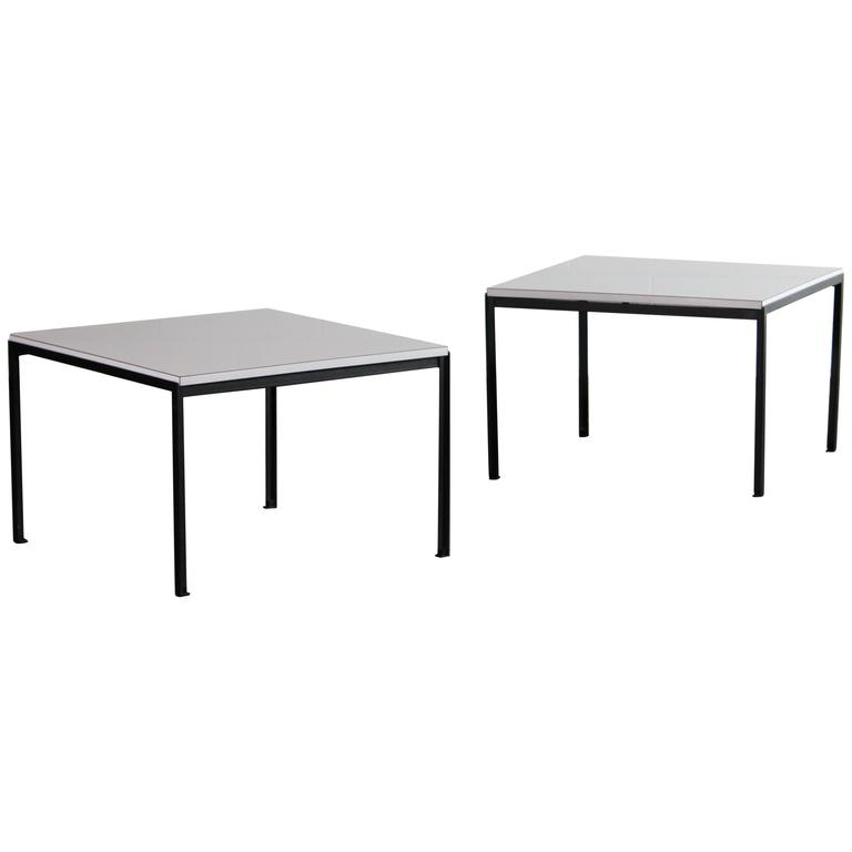 Florence Knoll T-Angel Side Tables for Knoll, 1960s