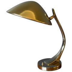 Vintage Sculptural Brass Laurel Lamp