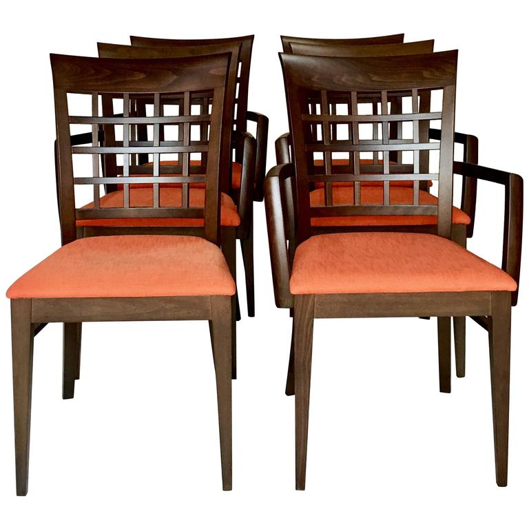 Modern Italian Set Of Six Chairs By Roche Bobois For Sale