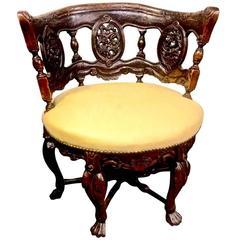 19th Century Anglo-Raj Barrel Back Chair