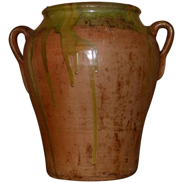 19th Century French Glazed Confit Pot