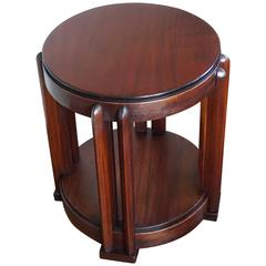 Stunning Mahogany Amsterdam School Occasional Table Attributed to Hildo Krop